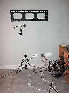 Fixer Tv Au Mur Sans Voir Les Fils : cablage esth tique tv suspendu 13 messages ~ Preciouscoupons.com Idées de Décoration