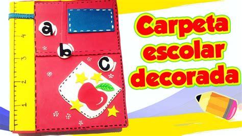 carpeta escolar decorada diy manualidades youtube