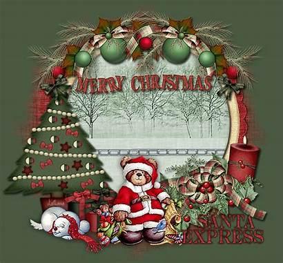Merry Christmas Santa Express Animated Lovethispic Train