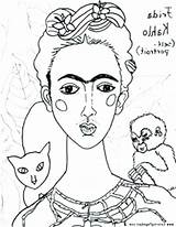 Coloring Portrait Self Pages Famous Getcolorings Printable Paintings sketch template