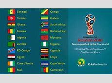 Coupe du monde 2018 Afrique l'Algérie dans le groupe
