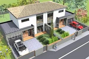 plan de maison moderne gazoline With dessin de maison en 3d 4 croquis de jardin en ligne pour petit jardin terrasse