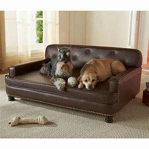 encantado espresso dog sofa bed luxury dog beds at With big dog couch beds