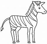Zebra Coloring sketch template