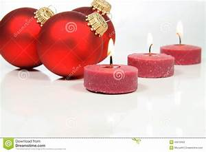 Red Candles And White Background Stock Photo - Image of ...