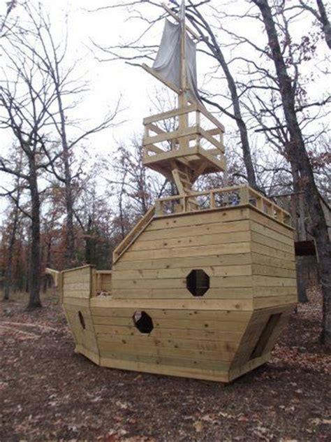 wooden pirate ship playhouse horns  ojays