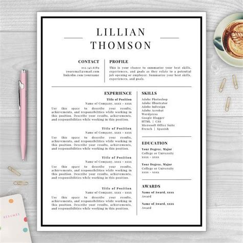 Resume Template Qut by Professional Resume Template For Word Pages Cv