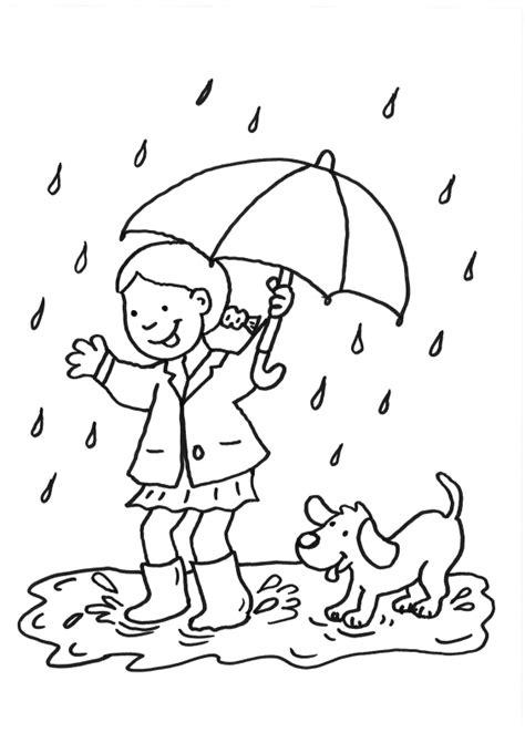 coloriage pluie les beaux dessins de nature  imprimer