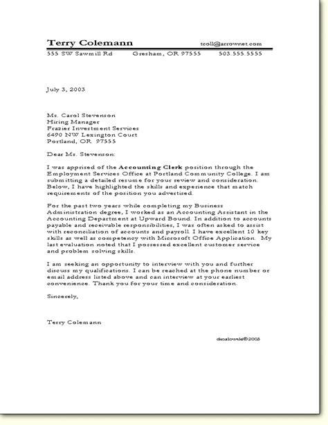 ba cover letter