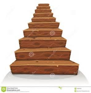 designer treppen karikatur holz treppe vektor abbildung bild 54895348