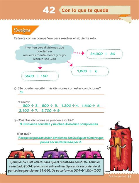 respuestas libro de matematicas 5 grado paco el chato
