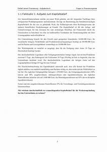 Kapitalbedarf Berechnen : input finanzierung aufgaben ~ Themetempest.com Abrechnung