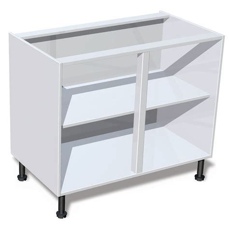 kitchen sink base unit carcass it kitchens white standard base cabinet w 1000mm 8444