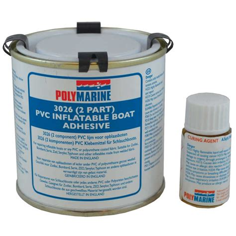 Boat Parts Whitworths polymarine pvc boat adhesive 2 part 250ml 49