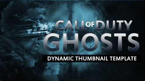 call  duty ghosts thumbnail template youtube