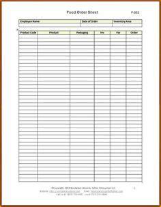 restaurant order form template images order form