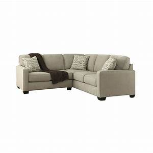 Ashley furniture alenya 2 piece fabric sectional in quartz for Alenya sectional sofa in quartz