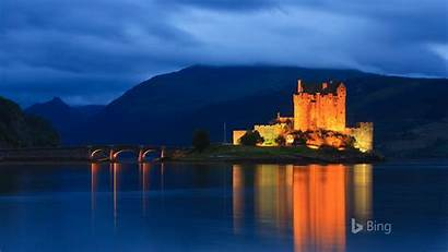 Bing Castle Eilean Donan Scotland Sunset Natural