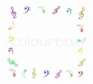 Bilder Mit Weißem Rahmen : bunte musiknoten rahmen auf wei em hintergrund stockfoto colourbox ~ Indierocktalk.com Haus und Dekorationen