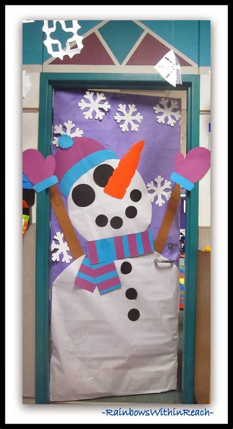 snowman door decorations snowman decorated classroom door via rainbowswithinreach