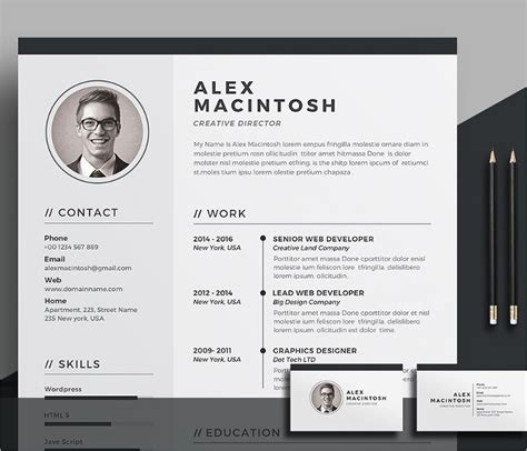 creative resume templates  word  design formats