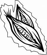 Corn Coloring Ear Pages Cornucopia Printable Drawing Basket Getdrawings Getcolorings sketch template