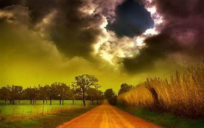 Wallpapers Storm Clouds Landscape Field Corn Amazing
