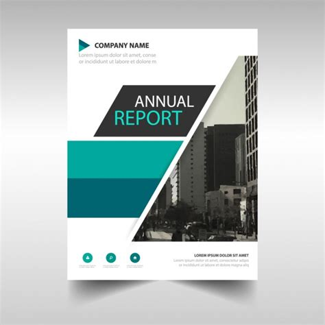 free annual report green and black annual report cover template vector free