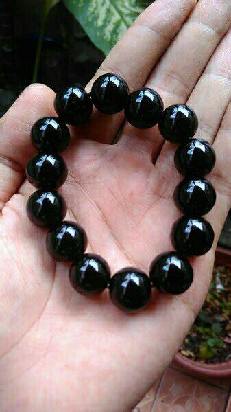 jual beli gelang batu giok hitam bulat black jade