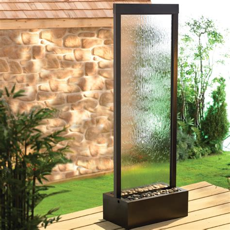 floor water features 6 gardenfall clear glass black