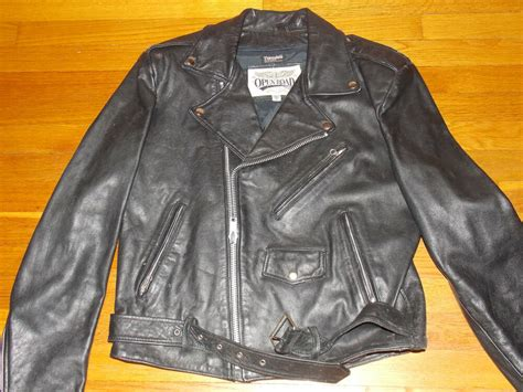1990's Black Leather Motorcycle Bike Jacket Men's Size 42