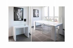 Table Blanc Laqué Extensible Ikea : console extensible laqu blanc 225cm table console pas cher ~ Nature-et-papiers.com Idées de Décoration