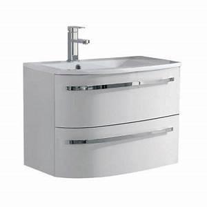 Meuble Sous Vasque 70 Cm : meuble sous vasque elbe blanc gauche 70 cm castorama ~ Teatrodelosmanantiales.com Idées de Décoration