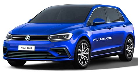 volkswagen golf mk rendered   styling
