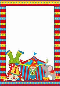 The Circus: Free Printable Frames, Invitations or Cards ...