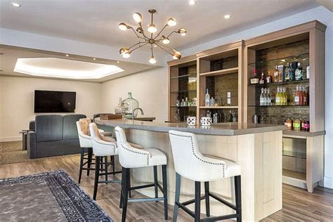 Living Room Bar Images by 27 Bright Finished Basements D 233 Cor Outline