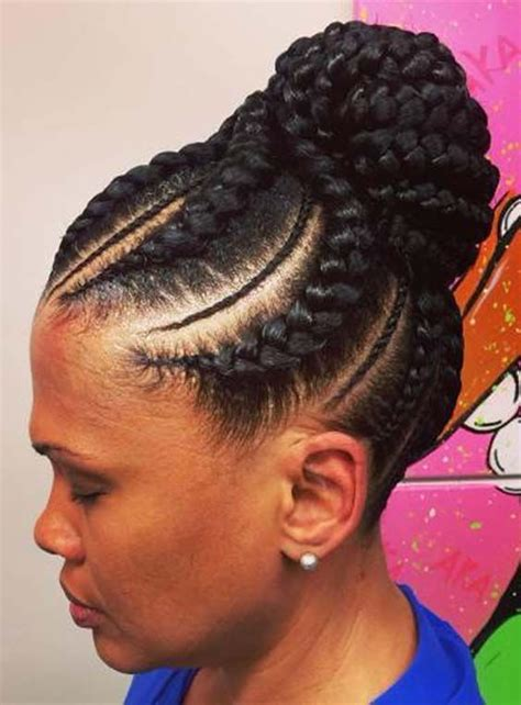 Braided Hairstyles For Black With Hair by Pretty Hairstyles For Black 2018 Hairstylesco