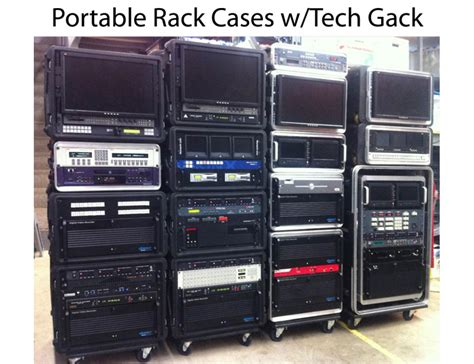 Portable Rack Cases W/tech Gack