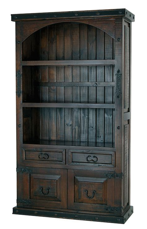 rustic bookcase with doors rustic wood bookcase rustic bookcase with cabinet doors