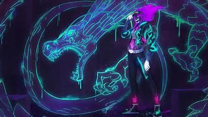 Akali Kda League Legends Neon Lol Dragon