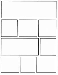 Template for creating your own comics https www for Comic strip template maker