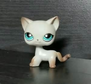 lps gray shorthair cat littlest pet shop lps 391 shorthair cat