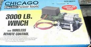 3 000 Lb 12v Winch Wireless Remote Camo Atv Chicago Electric 12 Volt 95912