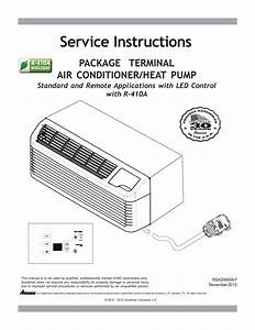 Amana Heater Air Conditioner Wall Unit Fp