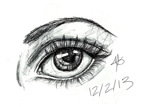 ink  eye sketch  bumbiberry  deviantart