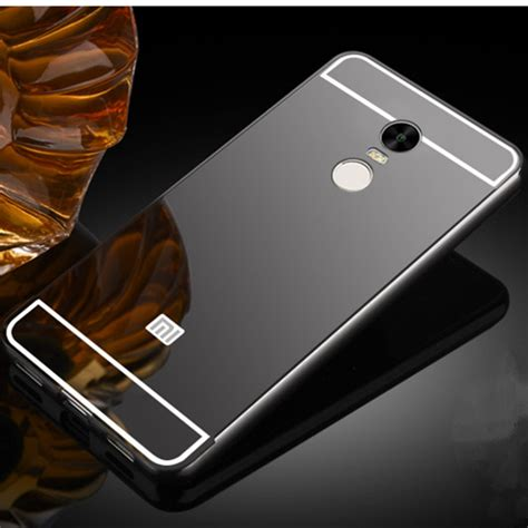 bumper mirror xiaomi note 2 luxury metal frame mirror back cover skin bumper for