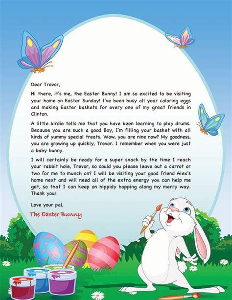 easter bunny letter template easter ideas pinterest