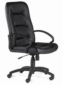 Fauteuil Cuir Bureau : fauteuil direction croute de cuir noir pau 8400s ~ Teatrodelosmanantiales.com Idées de Décoration