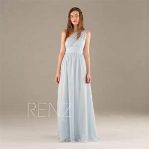 2016 Light Blue Bridesmaid Dress Long, Chiffon Maxi Dress ...
