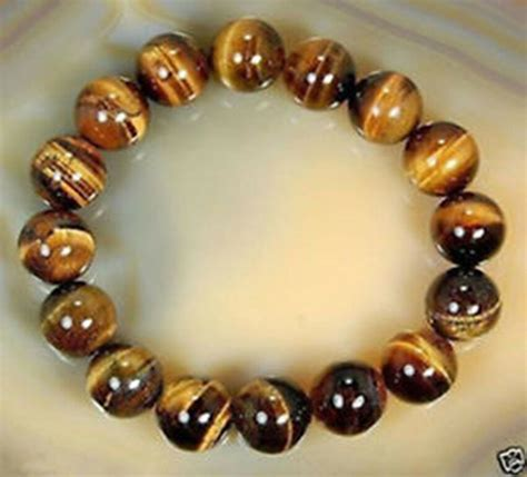 Natural Tiger Eye Stone Round Beads Stretchy Women